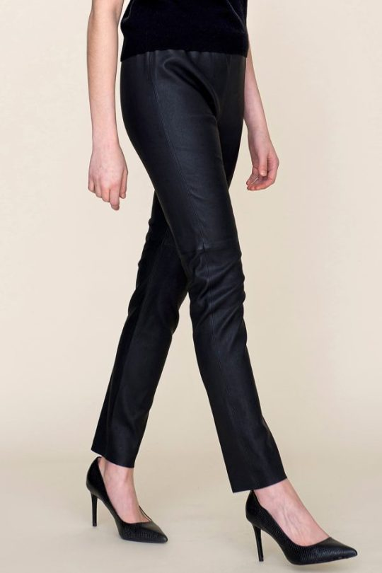 mustat nahkahousut black leather pants